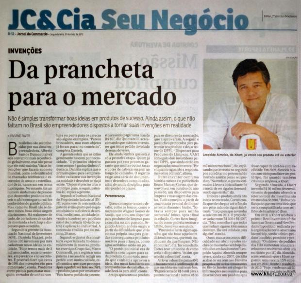 Matéria do Jornal do Commércio - RJ